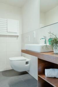Ein Badezimmer in der Unterkunft Kondrauer Hof
