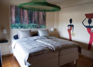Cama o camas de una habitación en Quinta Serra De Sao Mamede