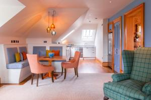 A seating area at Links House at Royal Dornoch