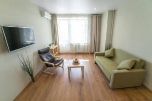 Гостиная зона в Apartment on Belinskogo