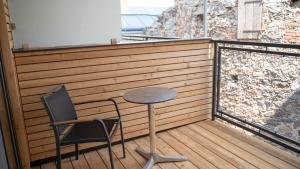 Ein Balkon oder eine Terrasse in der Unterkunft Donau Lodge