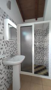 Salle de bains dans l'établissement Ilha & Montanha - Turismo Rural