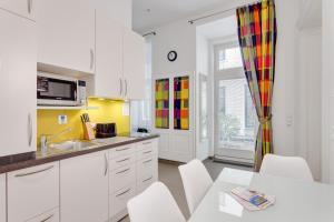 Küche/Küchenzeile in der Unterkunft GAL Apartments Vienna