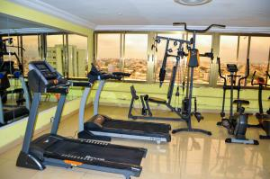 The fitness center and/or fitness facilities at Loumia Residency