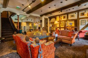 The lobby or reception area at The Feathers Hotel, Ledbury, Herefordshire