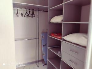 A bunk bed or bunk beds in a room at Аппартаменты на Черном море