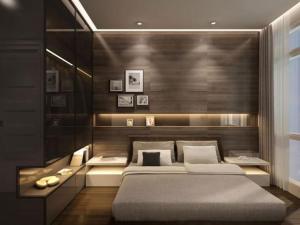 Un ou plusieurs lits dans un hébergement de l'établissement Villa luxueuse Ad