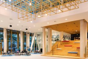 Das Fitnesscenter und/oder die Fitnesseinrichtungen in der Unterkunft Holiday Inn Express Amsterdam - North Riverside