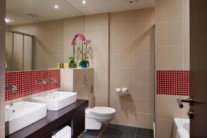 A bathroom at Red & Blue Design Hotel Prague
