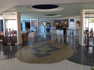 The lobby or reception area at Aquarios Praia Hotel