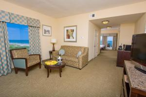 A seating area at Hilton Garden Inn South Padre Island
