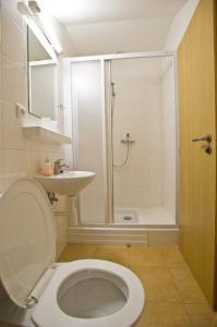Koupelna v ubytování Penzion U hamru