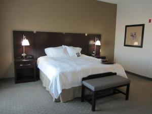 A bed or beds in a room at Hampton Inn & Suites Dumas