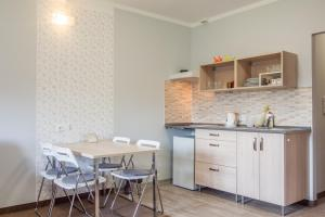A kitchen or kitchenette at Pension Rieger