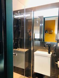 Een badkamer bij Hotel Valkenhof