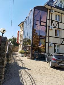 Патио или другая зона на открытом воздухе в Отель Гостеев