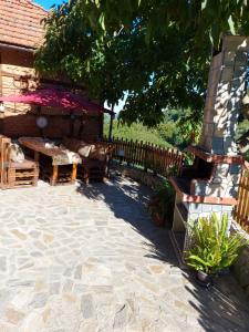 """A porch or other outdoor area at Guest House """"Ivanovata house"""""""
