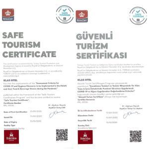 Сертификат, награда, вывеска или другой документ, выставленный в Klas Hotel
