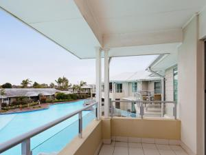 A balcony or terrace at 278 Pacific Blue 265 Sandy Point Road Dual key first floor Unit with linen supplied