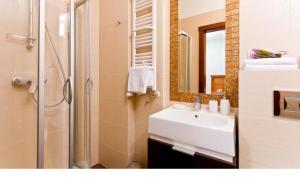 Koupelna v ubytování Przystanek Bavaria
