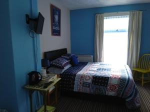 A room at McHalls Hotel