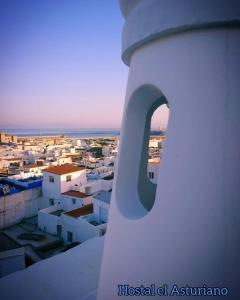 Vista general de Tarifa o vista desde el hostal o pensión