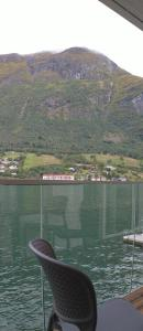 A balcony or terrace at Nesset Fjordcamping