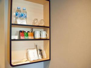 Coffee and tea making facilities at Hotel Elcient Osaka