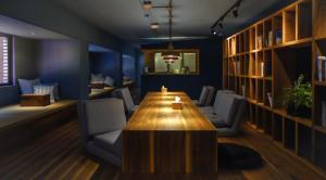 The lounge or bar area at Star Hostel Taipei East