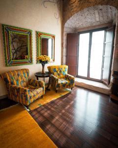 The lobby or reception area at Hotel De La Soledad