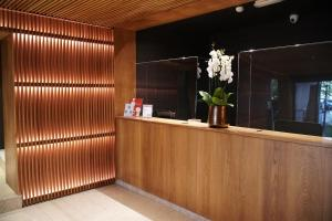 The lobby or reception area at Hotel Dom Carlos Park
