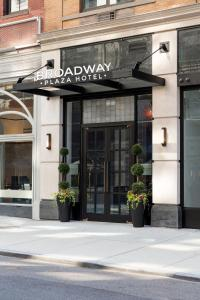 The facade or entrance of Broadway Plaza Hotel