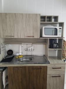 A cozinha ou cozinha compacta de Apartamento Bombas