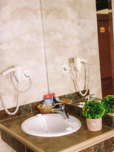 A bathroom at Curtea Bizantina