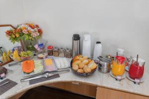 Coffee and tea making facilities at Pousada Golf Village