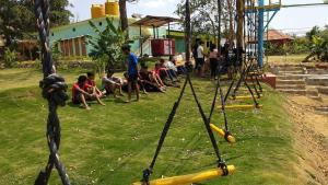 Children's play area at Wild Valley Adventure Retreat