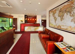 The lobby or reception area at PREMIUM Business Hotel Bratislava