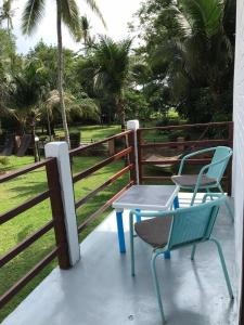 A porch or other outdoor area at Eagleye Villa & Cottages
