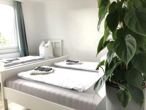 Ein Zimmer in der Unterkunft L-Apartments Reutlingen - Metzingen - Tübingen