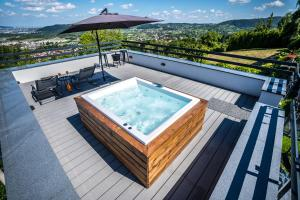 Spa and/or other wellness facilities at D_View House, industrial living in the hills