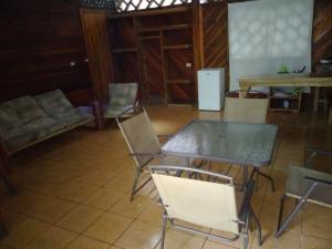 The lounge or bar area at Casa Natural Puerto Viejo