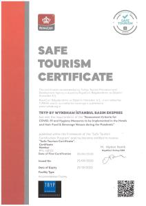 A certificate, award, sign, or other document on display at TRYP by Wyndham Istanbul Basın Ekspres