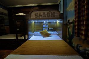 A bunk bed or bunk beds in a room at El Volante