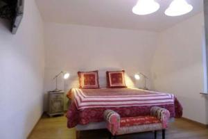 Ein Bett oder Betten in einem Zimmer der Unterkunft Ferienwohnung Bellaria