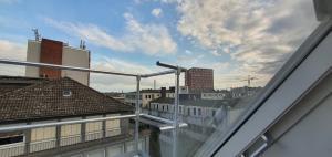 A balcony or terrace at Hotel Horstmann Garni
