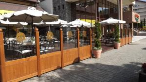 A patio or other outdoor area at Hotel Anda