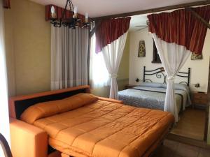 Una habitación en Hotel Hospederia Zacatin