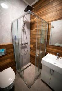 A bathroom at Rivne Hostel
