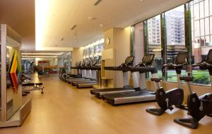 The fitness center and/or fitness facilities at Sheraton Hsinchu Hotel