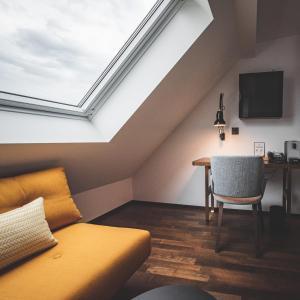 Ein Sitzbereich in der Unterkunft Hotel Bernina Geneva